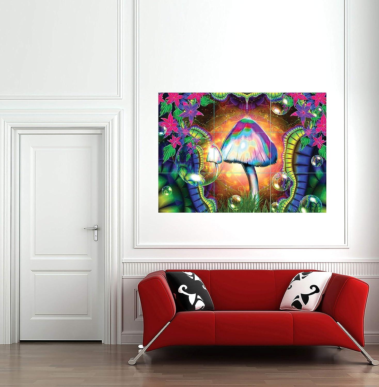 MAGIC MUSHROOMS TRIPPY GIANT PRINT PICTURE AFICHE CARTEL IMPRIMIR CARTELLO POSTER G158: Amazon.es: Hogar