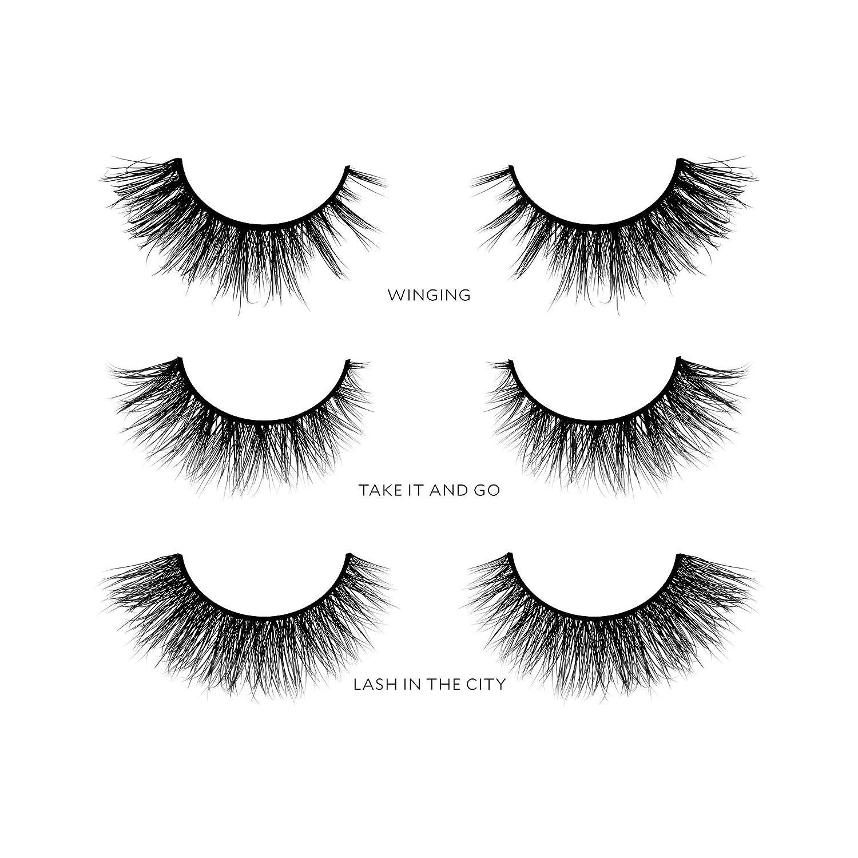 cc6dba37d57 Amazon.com : Velour Lashes - Cat Eye Collection (3 Pairs of Mink Lashes) -  Fake/False Natural Eyelashes - Long Lasting 25+ Applications - Natural ...