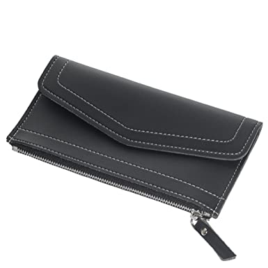 ff609729b30b Amazon.com: CKLT Women's Long Soft PU Leather Zipper Ultra-Thin ...