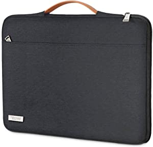 """TECOOL 14 Inch Laptop Sleeve Briefcase with Handle & Zip Pocket for 14"""" HP Pavilion Stream Lenovo ThinkPad IdeaPad 3 Flex 5 Dell Inspiron 14, Acer ASUS Chromebook 14 Case, 15"""" Surface Laptop 3, Black"""
