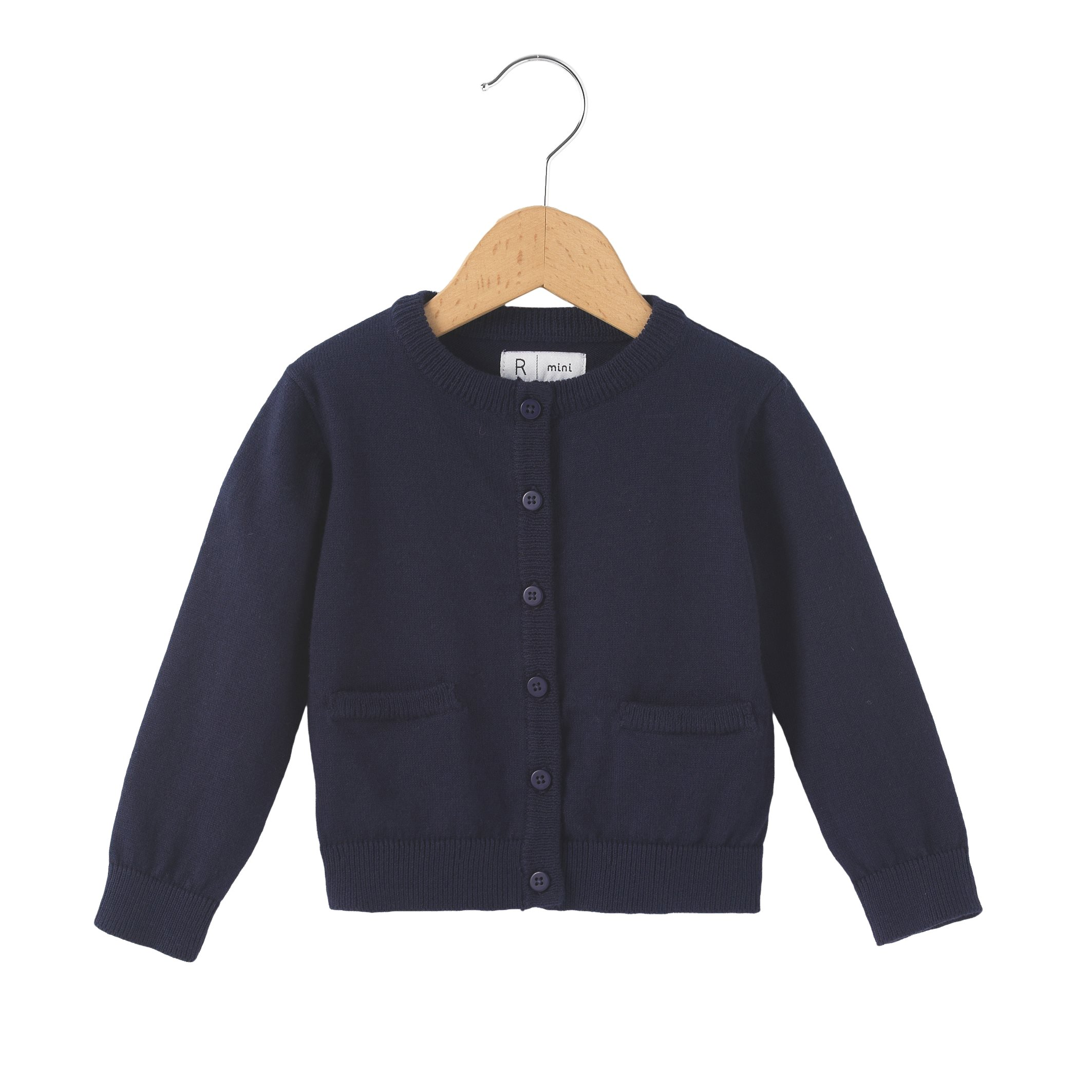 La Redoute Collections Big Girls Fine Gauge Knit Cardigan, 1 Month-3 Years Blue Size 3 Months - 23 In.