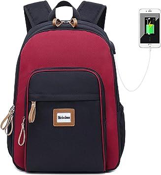 Rucksack Schulrucksäcke für Mädchen Teenager Casual Taschen USB Casual Taschen