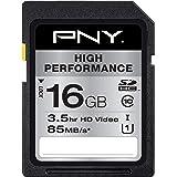PNY 16GB High Performance Class 10 U1 SDHC Flash Memory Card P-SDHC16GU1GW-GE
