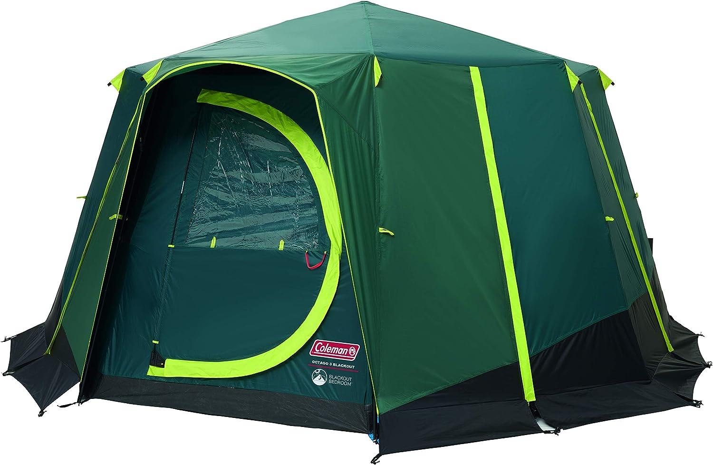 Coleman Octagon campingtent met grote ramen, familietent met