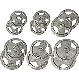 POWRX Olympia Hantelscheiben Gewichte Gusseisen 2er Set 2,5 - 20 kg für Langhanteln Lochdurchmesser 51 mm