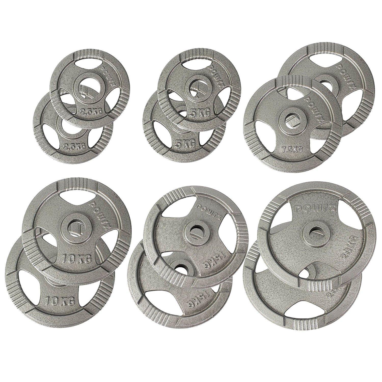 POWRX Olympia Gewicht Hantelscheiben 2,5-40 kg   2er Set Ideal für Kurzhanteln und Langhanteln mit Durchmesser 50 mm