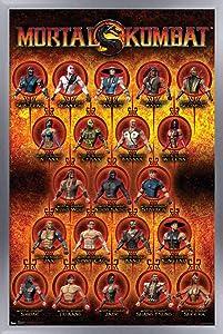 Trends International Mortal Kombat - Grid Wall Poster, 22.375