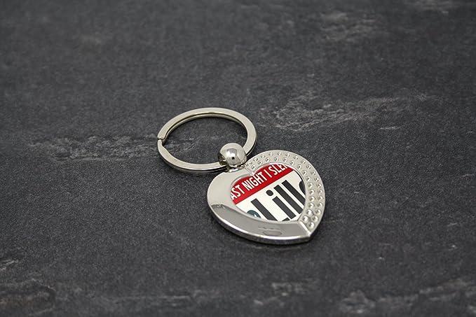 LEotiE SINCE 2004 Porte-cl/és /étiquette de Bagage Cl/é de la Moto Ville Lille France Coeur imprim/ées