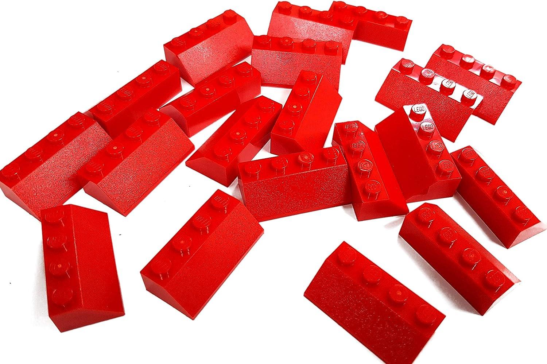 LEGO Parts and Pieces: Magenta (Bright Reddish Violet) 2x4 45 Slope x20