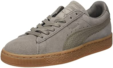 Unisex Adults Suede Classic Natural Warmth Low-Top Sneakers, Grey, One Size Fits All Puma