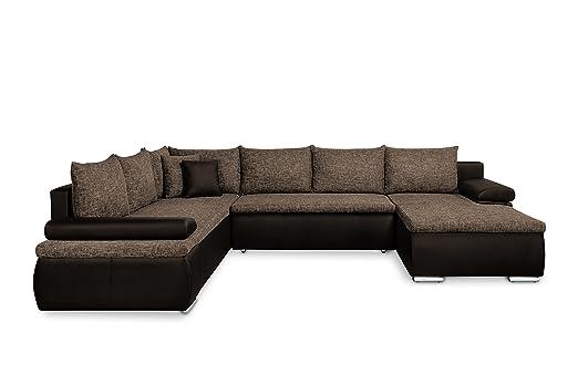 Mein Sofa Xxl Wohnlandschaft Cali Braun Mit Schlaffunktion Und