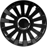"Albrecht 49237 Sail Gloss Black Plus 17"" Wheel Cover, (Set of 4)"
