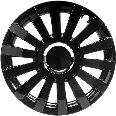 2 unidades radblenden tapacubos silverstone pro Black negro 14 pulgada radzierblende