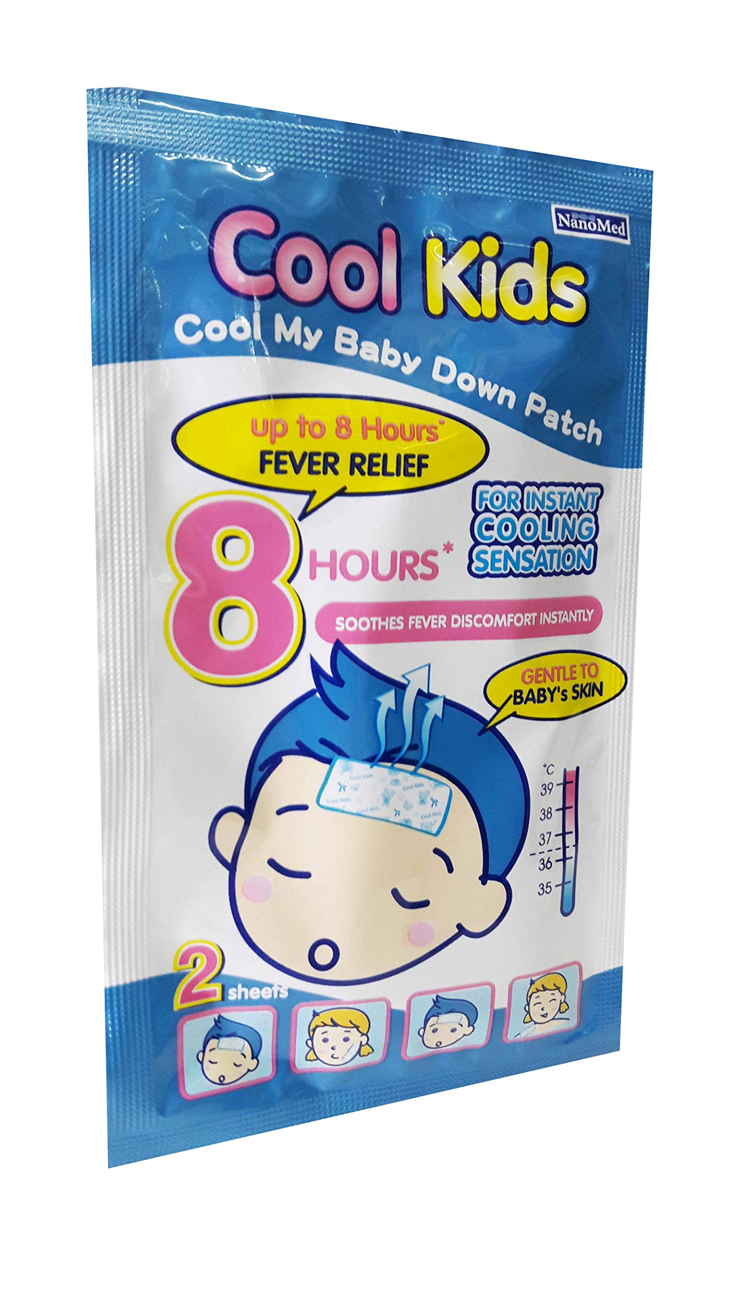 Cool Kids Fever Patch (6 Patches/Pack), Desired for Baby and Kids Age 15 Months up, for Instant Cooling Sensation up to 8 Hours Fever Relief