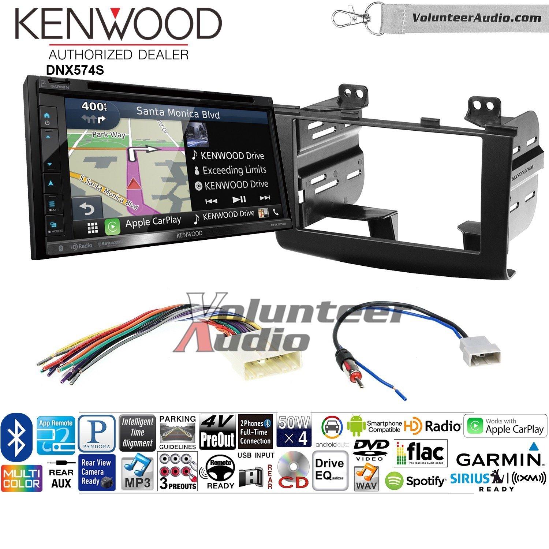 ボランティアオーディオKenwood dnx574sダブルDINラジオインストールキットwith GPSナビゲーションApple CarPlay Android自動Fits 2008 – 2010日産Rogue B07C27HH6P