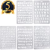 SUBANG 5 Pcs Alphabet Stencil Letter Stencil Templates for Painting and Crafts