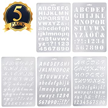 Amazoncom SUBANG Pcs Alphabet Stencil Letter Stencil Templates - Letter stencil templates