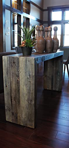 reclaimed wood console table credenza sofa table