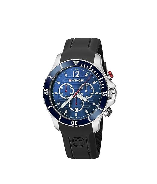 Wenger Reloj Cronógrafo para Unisex de Cuarzo con Correa en Silicona 01.0643.110: WENGER: Amazon.es: Relojes