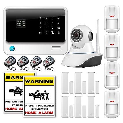 Golden Security - g90b Kit Alarma Hogar inalámbrico pantalla ...