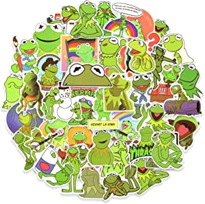 50pcs Frog Vinyl Stickers Pack, Cute Cartoon Stickers for Laptop Water Bottle Skateboard, Waterproof Decals for Adults Teens Kids