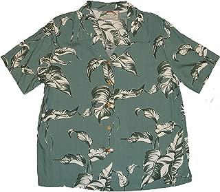 product image for Paradise Found Women's Palm Tree Leaf Aloha Shirt, Sage, S