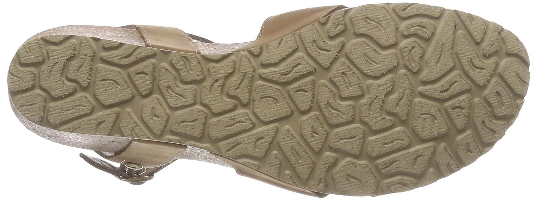PANAMA JACK Damen Sandalen Vika Basics Offene Sandalen Damen mit Keilabsatz Grün (Taupe) 8b8548