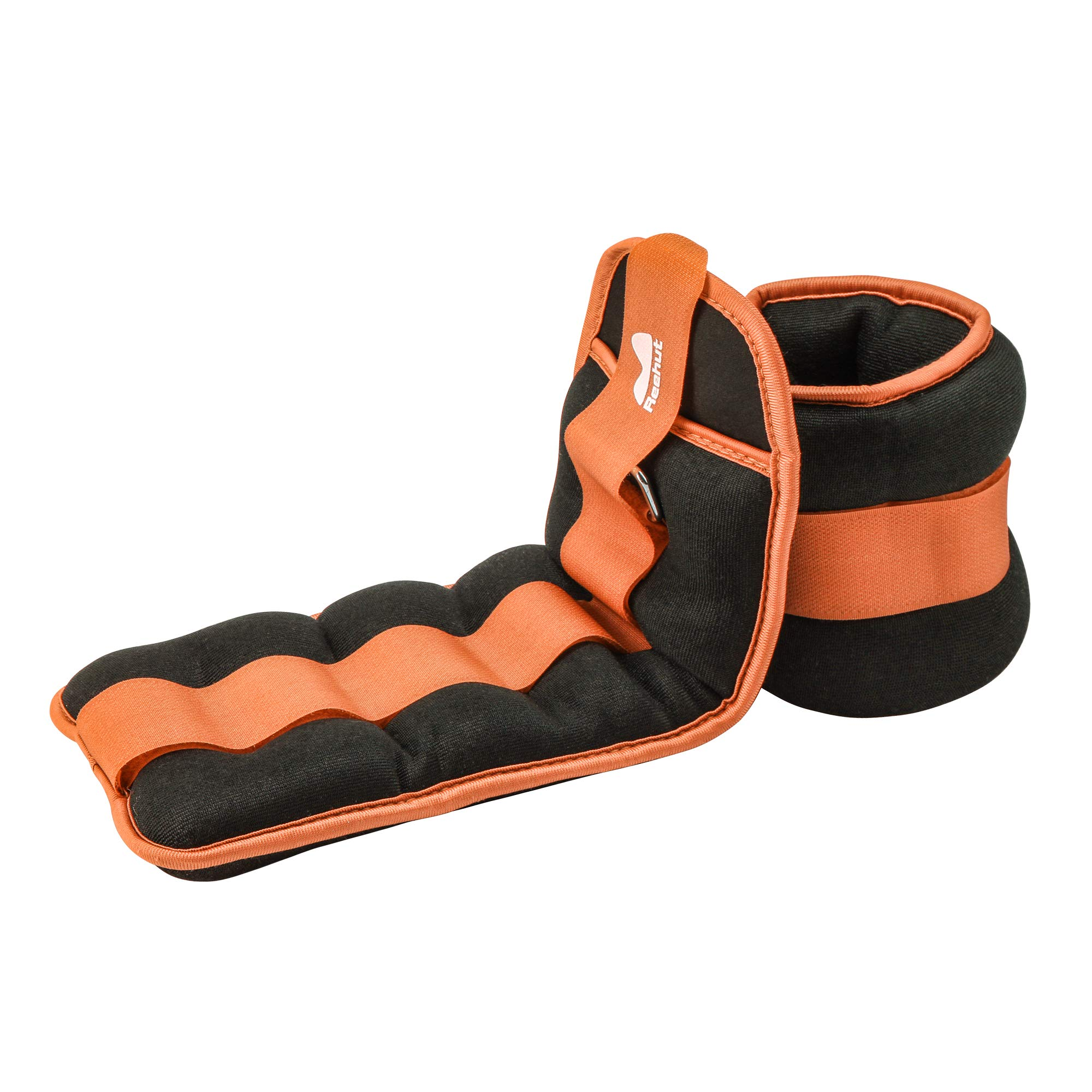 REEHUT Ankle Weights, Durable Wrist Weight (1 Pair) with Adjustable Strap for Fitness, Exercise, Walking, Jogging, Gymnastics, Aerobics, Gym - Orange - 6 lbs Pair (3 lbs Each)