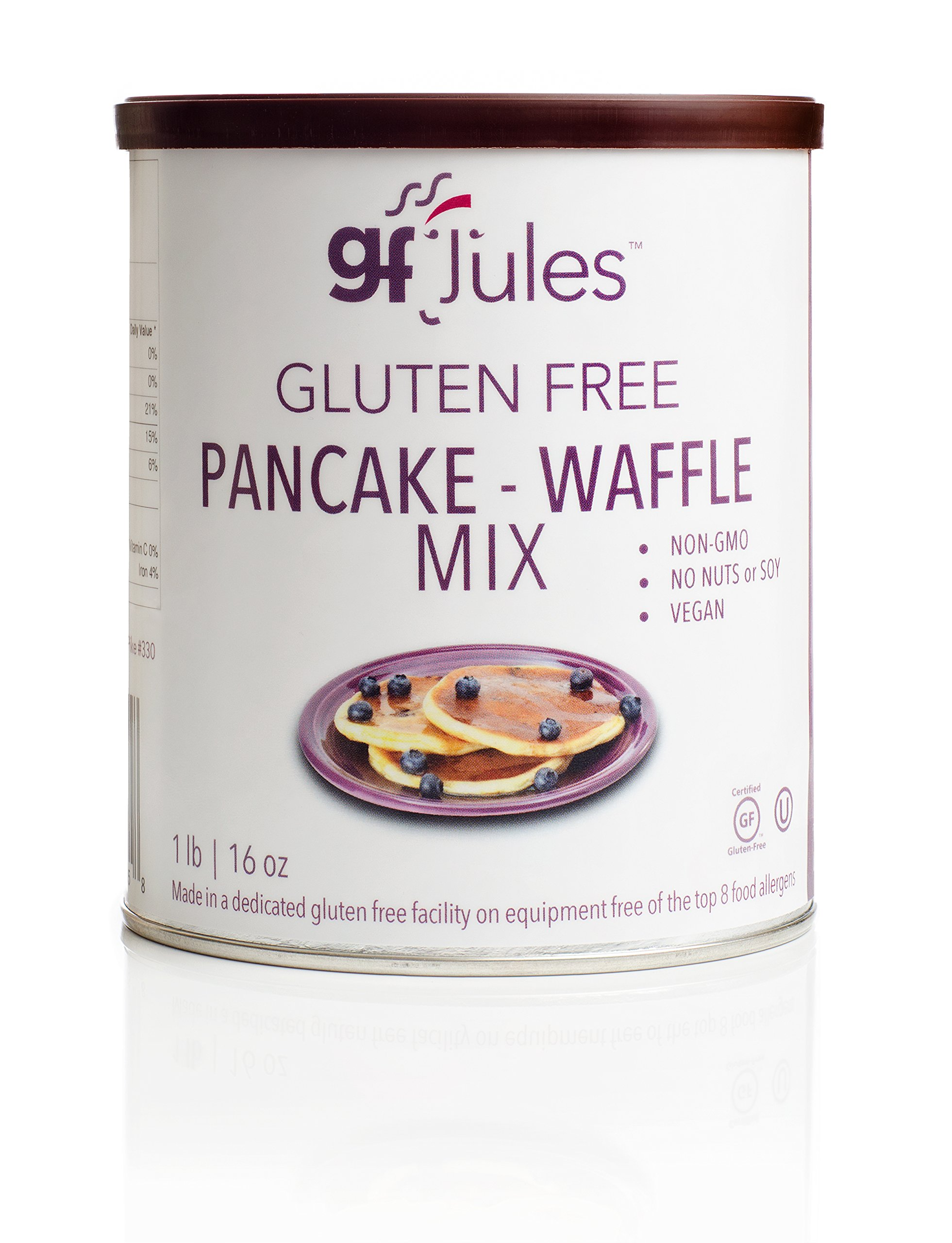gfJules Gluten Free Pancake & Waffle Mix - Voted #1 by GF Consumers 1 lb, Pack of 1 by gfJules