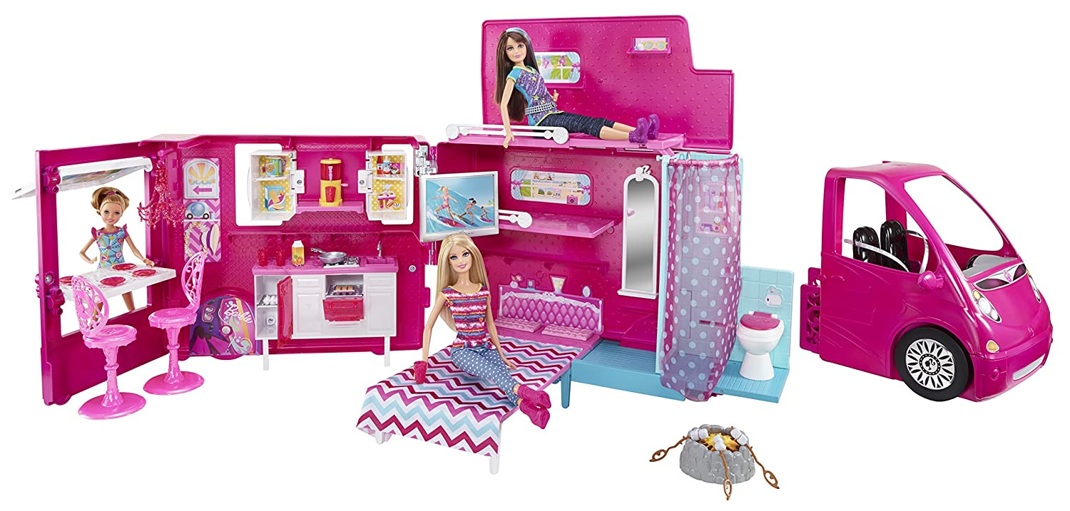Amazon.com: Barbie Sisters Life In The Dreamhouse Camper (Discontinued By  Manufacturer): Toys U0026 Games