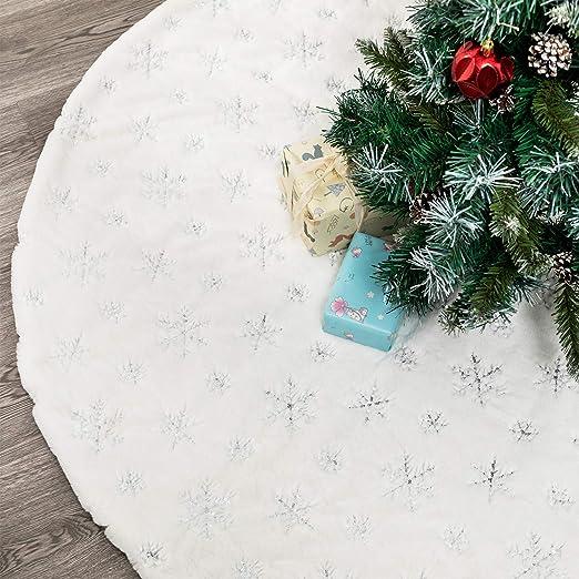 HusDow - Falda para árbol de Navidad (Piel sintética, 89 cm ...