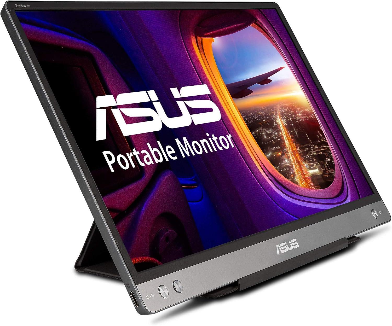 "ASUS ZenScreen MB14AC 14"" Portable USB Type-C Monitor, 1080P Full HD, IPS, Eye Care, Anti-Glare Surface, External Screen for Laptop, Hybrid Signal Solution (Renewed)"