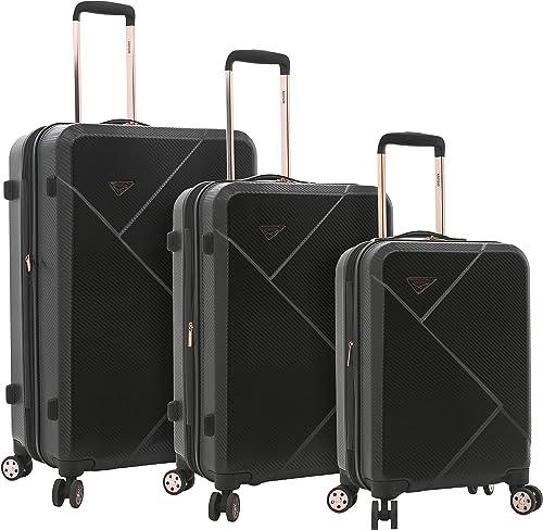 kensie 3 Piece Luggage Set, Black