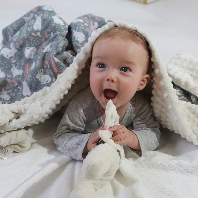 Miracle Baby Minky Babydecke 100/% Baumwolle Super Weich und Flauschig Decke f/ür Neugeborene-78 * 98cm Kuscheldecke Krabbeldecke Klein, L/öwe