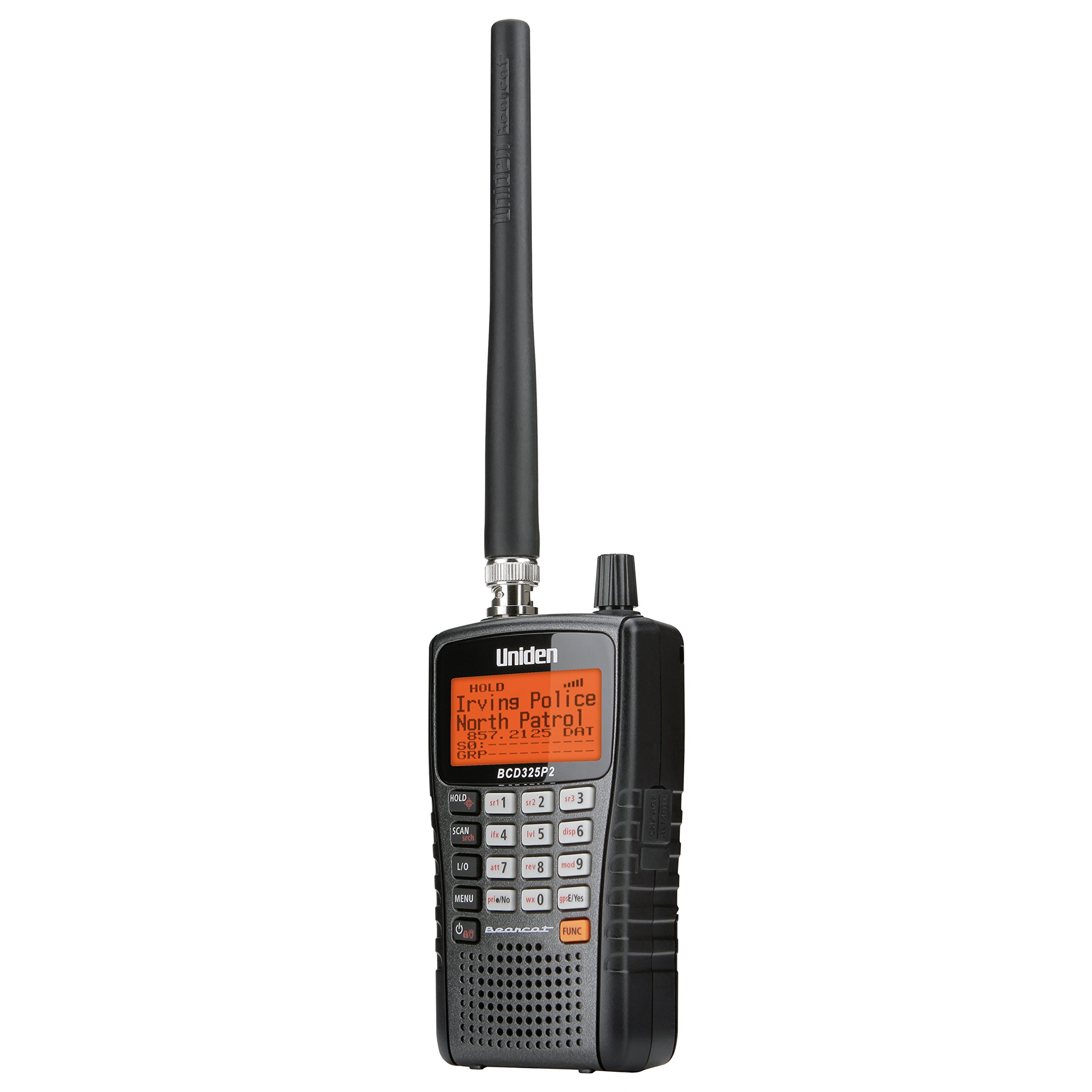 Uniden BCD325P2 Handheld TrunkTracker V Scanner. 25,000 Dynamically Allocated Channels. Close Call RF Capture Technology. Location-Based Scanning and S.A.M.E. Weather Alert. Compact Size. by Uniden (Image #2)