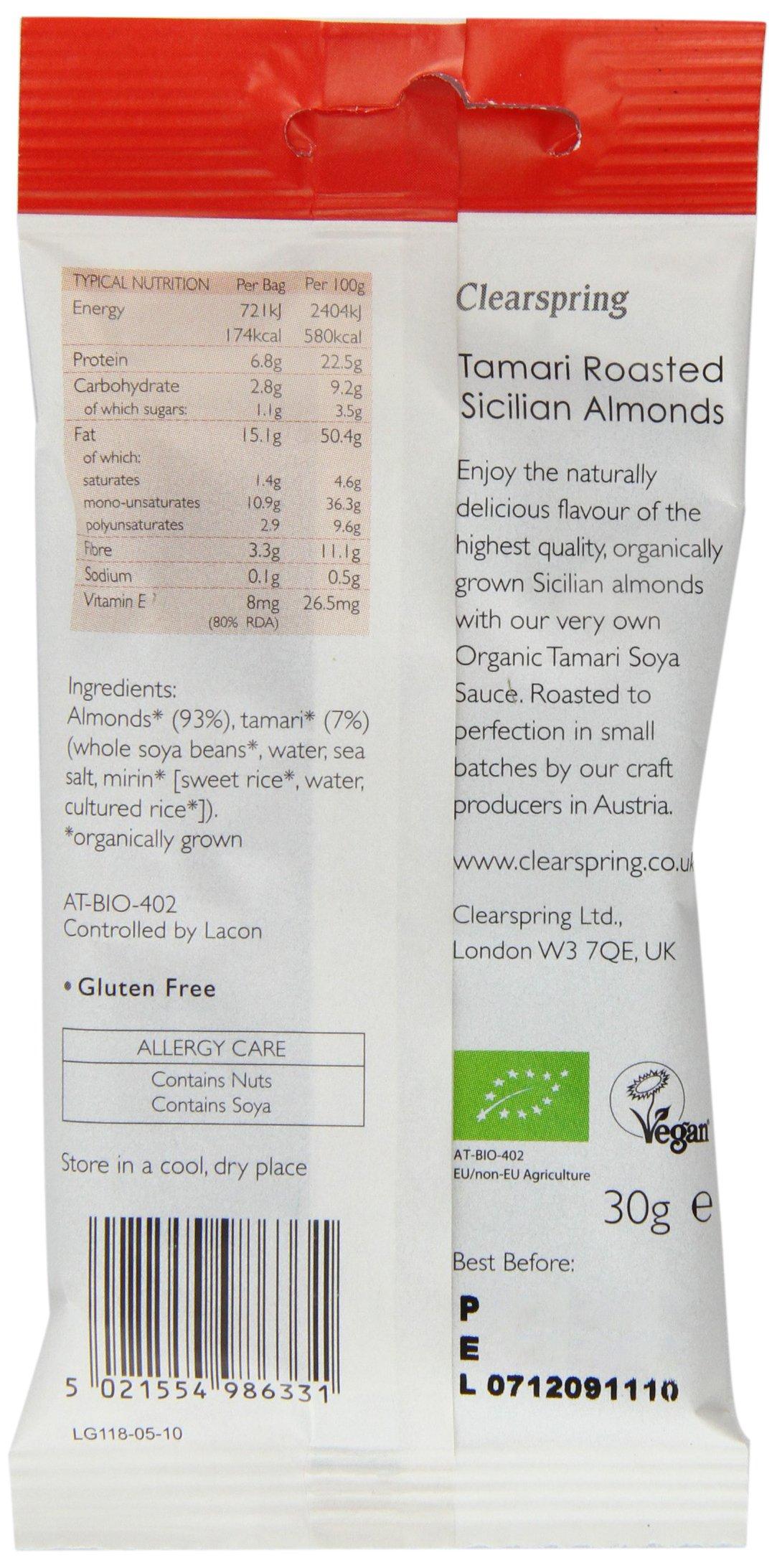 Clearspring - Organic Snack - Tamari Roasted Sicilian Almonds - 30g
