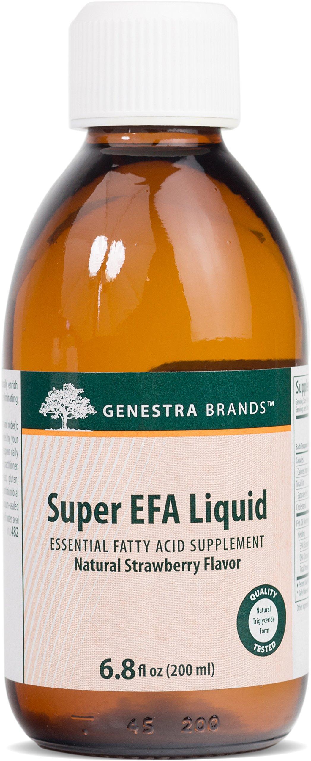 Genestra Brands - Super EFA Liquid - EFA Supplement to Support Cardiovascular, Brain, Eyes, and Nerves* - Natural Strawberry Flavor - 6.8 fl oz (200 ml)