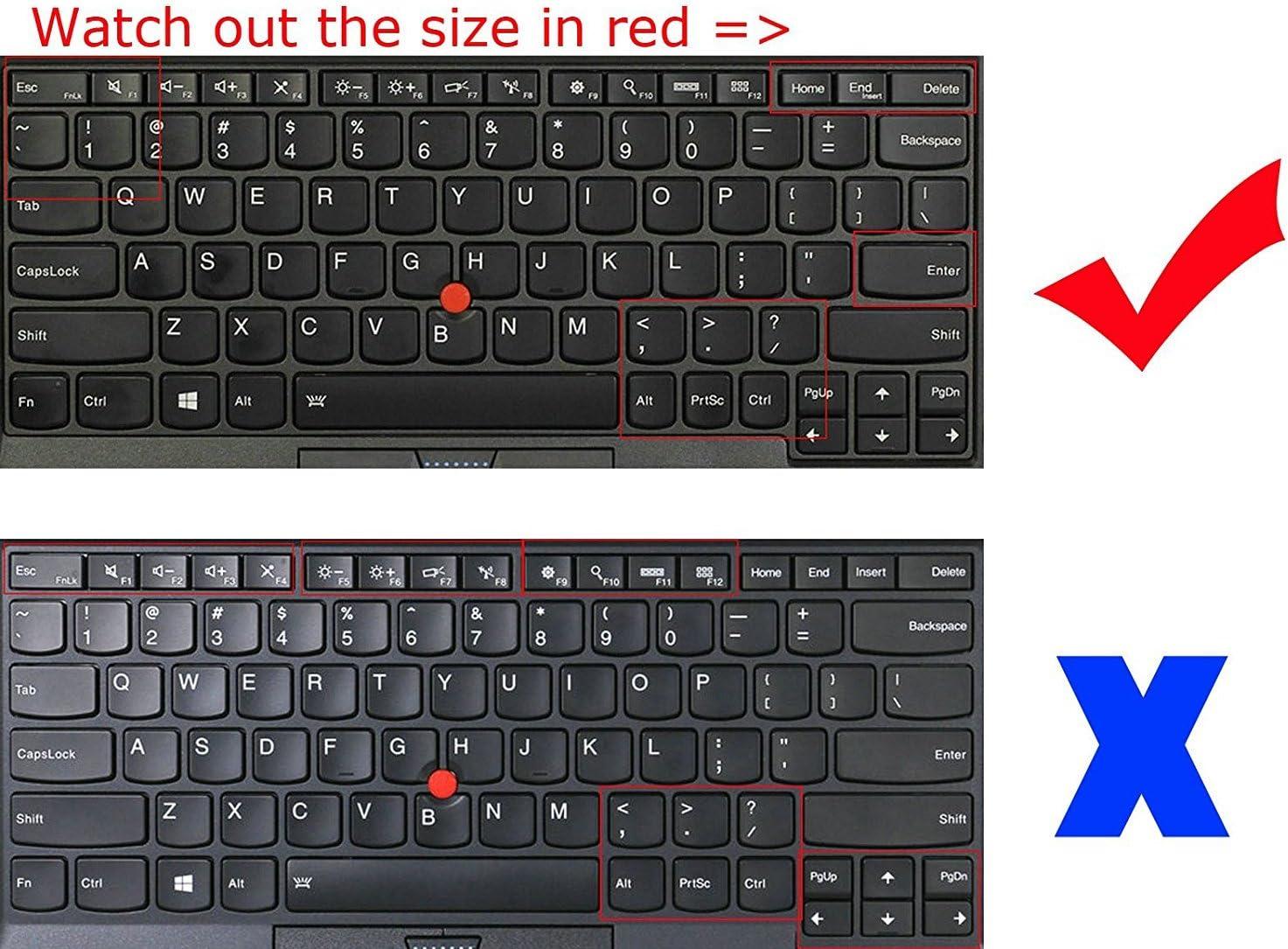 BingoBuy Semi-Black US Layout Silicone Keyboard Protector Skin Cover for Lenovo ThinkPad X230s X240 X240s X250 X260 X270 X280 X380 X390 X395 Yoga S1 260 370 with BingoBuy Card Case