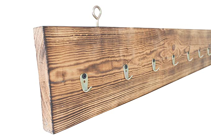 Vintage - Perchero de Madera de palé 130 x 18 x 3 cm: Amazon ...