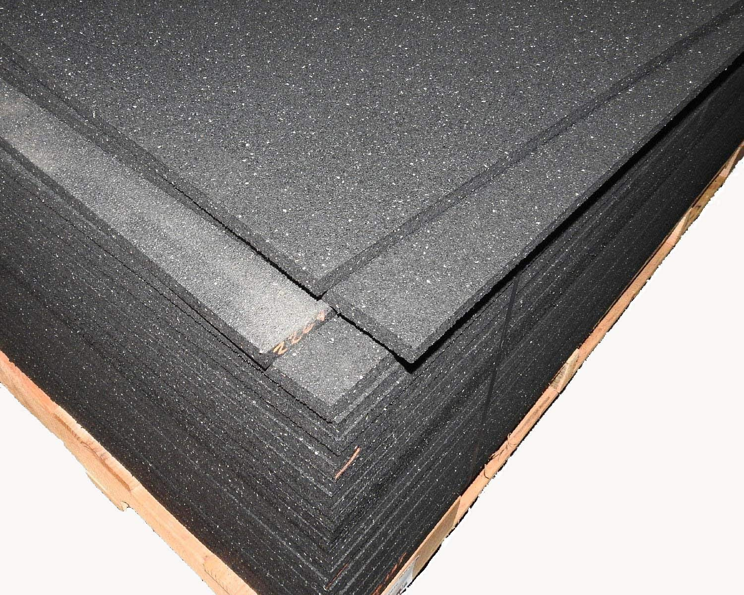 American Made Thick Rubber Gym Flooring 3 4 Thick 48 x 72 Weighs 90 lbs.