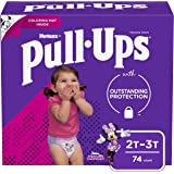 Pull-Ups Learning Designs Training Pants for Girls, 2T-3T, 74 Count (Packaging May Vary)