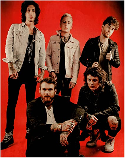 amazon com stick it on your wall asking alexandria group shot