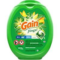 Gain flings! Liquid Laundry Detergent Pacs, Blissful Breeze 96 Count