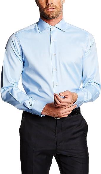 Mirto Venecia Camisa de Vestir, Azul, 37 para Hombre: Amazon.es: Ropa y accesorios
