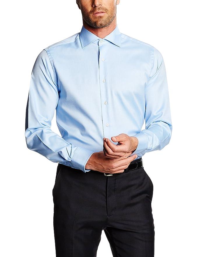 Mirto Venecia Camisa de Vestir, Azul, 37 para Hombre: Amazon.es ...