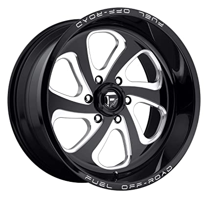 Amazon 20 Inch Fuel Flow 6 Gloss Black Milled Wheels Rims Only