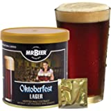 Mr. Beer Oktoberfest Lager 2 Gallon Homebrewing Craft Beer Making Refill Kit with Sanitizer, Yeast and All Grain Brewing Extract Comprised of the Highest Quality Barley and Hops