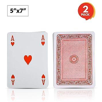 Gamie Juego de tarjetas gigantes de 12,7 x 17,8 cm (paquete ...