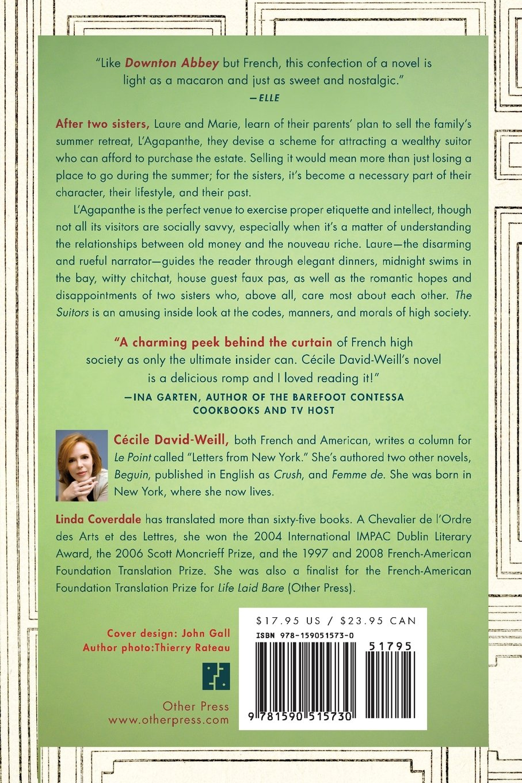 the suitors cecile david weill 9781590515730 amazon com books