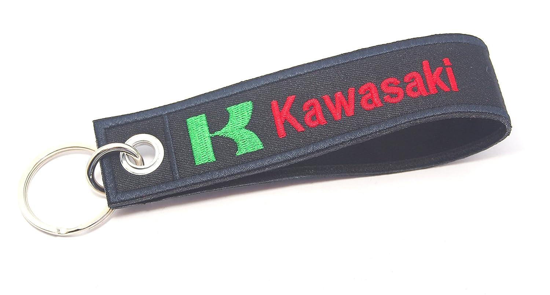 Kawasaki etiqueta Llavero Biker Racing motocicleta bordado ...